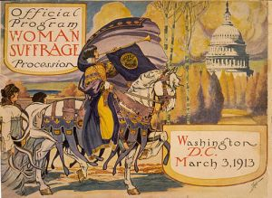 This poster advertising the march is in the public domain.