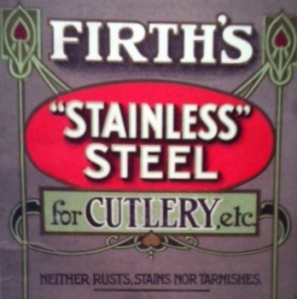 "Firth's ""Stainless"" Steel"" for Cutlery etc."