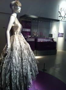 a dress made of woven steel fabric
